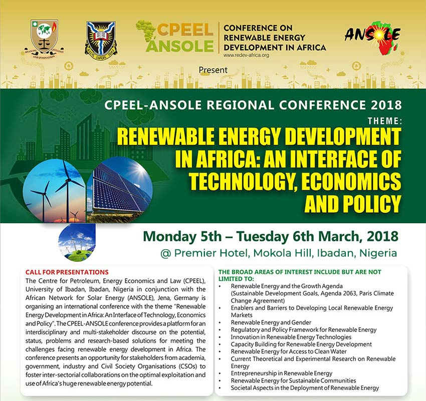 CPEEL ANSOLE CONFERENCE ON RENEWABLE ENERGY 2018