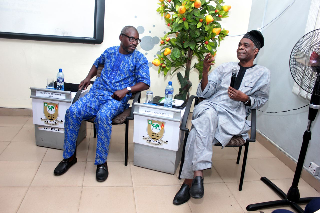 Prof Akin Iwayemi at CPEEL Dialogue